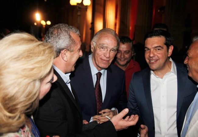 Στιγμιότυπο με συνάντηση με τον Πρωθυπουργό και τον πρόεδρο των Κεντρώων