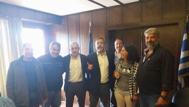 Συνάντηση Βαρδάκη με δημάρχους παρουσία του Αν. Υπ. Εσωτερικών και Διοικητικής Ανασυγκρότησης