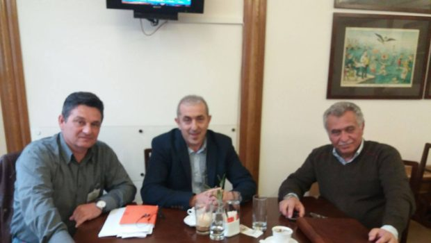 Συνάντηση Σωκράτη Βαρδάκη και Δημάρχου Φαιστού στο Υπουργείο Αγροτικής Ανάπτυξης για τους ΤΟΕΒ