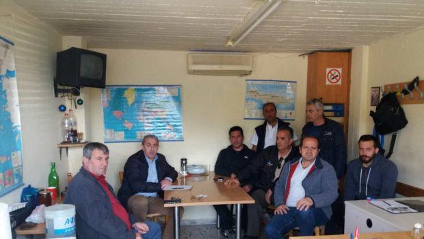 Συνάντηση Σ. Βαρδάκη με τους υπαλλήλους Ο.Λ.Η. και τα Σωματεία Λιμενεργατών και Λεμβούχων