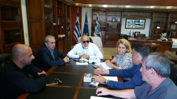 Συνάντηση Σ. Βαρδάκη με Υπ. Ναυτιλίας & Νησιωτικής Πολιτικής και εκπροσώπους της Ομοσπονδίας Φορτοεκφορτωτών Ελλάδος
