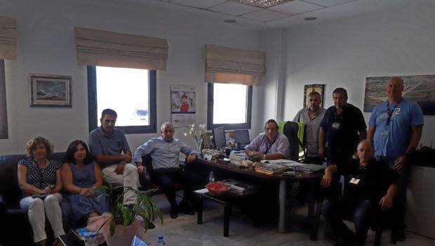 Συνάντηση Σ. Βαρδάκη με τον Αερολιμενάρχη και τα Σωματεία Εργαζομένων στο Αεροδρόμιο Ν. Καζαντζάκης
