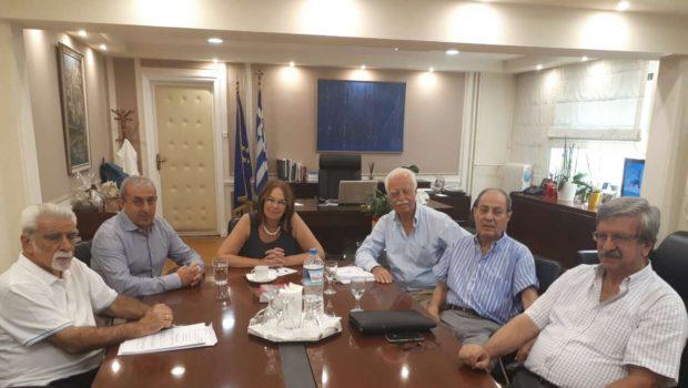Συνάντηση Σ. Βαρδάκη με την Υφυπουργό Οικονομικών και τον σύλλογο συνταξιούχων πρώην ΑΤΕ