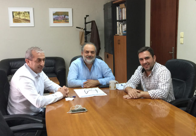 Συνάντηση Σωκράτη Βαρδάκη με Περ/κό Διευθυντή Εκπαίδευσης Κρήτης