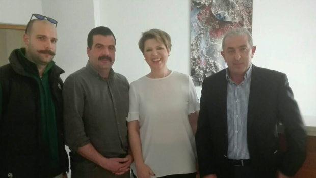 Συνάντηση Υπουργού Διοικητικής Ανασυγκρότησης με τον Σ. Βαρδάκη και το Σωματείο Πυροσβεστών Ηρακλείου