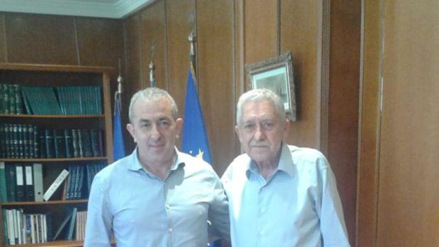 Συνάντηση Σωκράτη Βαρδάκη με τον Αναπληρωτή Υπουργό Εθνικής Άμυνας Φώτη Κουβέλη
