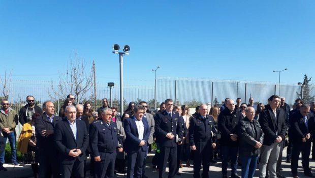 Ο Σωκράτης Βαρδάκης στην τελετή μνήμης των πεσόντων αστυνομικών