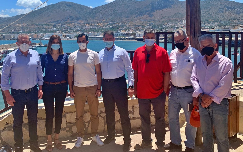 Επίσκεψη με τον Δήμαρχο Χερσονήσου στο Λιμάνι Χερσονήσου
