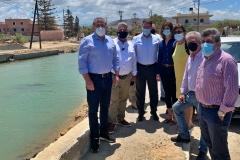 Επίσκεψη με τον Δήμαρχο Χερσονήσου στις πληγείσες περιοχές του Δήμου