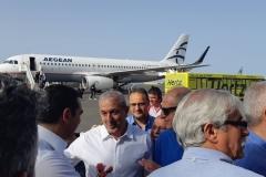 Υποδοχή Πρωθυπουργού Αλέξη Τσίπρα στο αεροδρόμιο Ηρακλείου