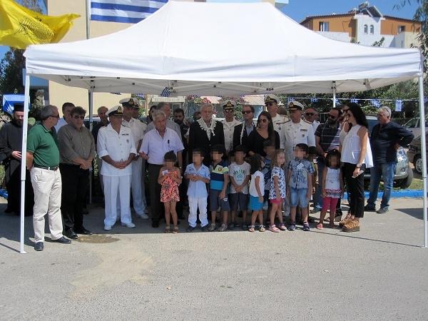 Από την τελετή ονοματοδοσίας σε δρόμο της Αμμουδάρας παρουσία του Υπουργού Ναυτιλίας