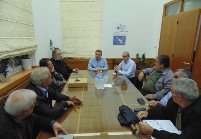 Συνάντηση Βαρδάκη με τον Περιφερειάρχη για τον Α/Κ Καρτερού