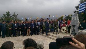 Στην τελετή αποκαλυπτηρίων της προτομής του έφεδρου ανθυπολοχαγού Παναγιώτη Εμμανουήλ Μπέρκη στο Μεταξοχώρι, παρευρέθη ο Βαρδάκης Σωκράτης.