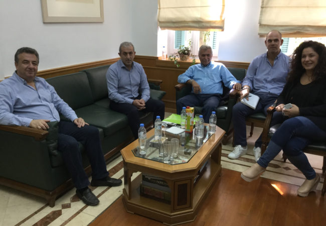 Συνάντηση Βαρδάκη με Περιφερειάρχη και Επιτροπή Υγείας Μεσαράς