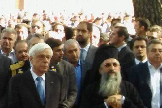 O Σωκράτης Βαρδάκης στις εκδηλώσεις εορτασμού που πραγματοποιήθηκαν στη Μονή Αρκαδίου