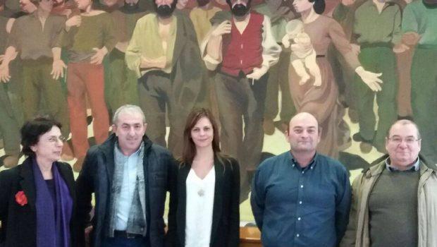 Συνάντηση Βαρδάκη Σωκράτη με την Υπουργό Εργασίας κα Αχτσιόγλου και εργαζόμενους