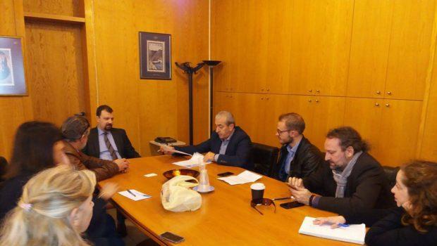 Συνάντηση με τον Γενικό Γραμματέα Τηλεπικοινωνιών και Ταχυδρομείων του Υπουργείου Ψηφιακής Πολιτικής, Τηλεπικοινωνιών και Ενημέρωσης για την παραμονή του ENISA και του Σχολείου Ευρωπαϊκής Παιδείας στο Ηράκλειο