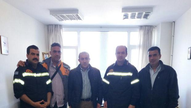 Επίσκεψη του Σωκράτη Βαρδάκη στην Πυροσβεστική Υπηρεσία Ηρακλείου