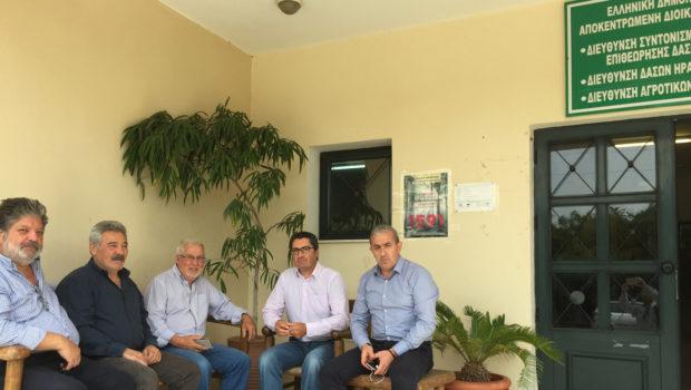 Συνάντηση του Σ. Βαρδάκη με εκπροσώπους Επιτροπής φορέων και κατοίκων με τον Προϊστάμενο της Δ/νσης Δασών για το έργο του Α/Κ Καρτερού