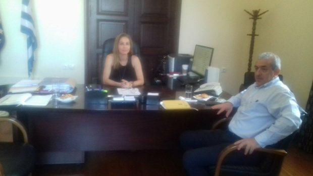 Το ολοκληρωμένο σχέδιο για τη διαχείριση του νερού στην Κρήτη, το βασικότερο θέμα στη συνάντηση του Σ. Βαρδάκη με τη νέα Συντονίστρια Αποκεντρωμένης Διοίκησης