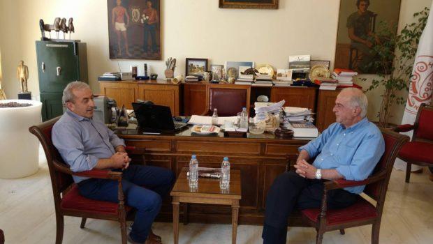 Συνάντηση Σωκράτη Βαρδάκη με Δήμαρχο Ηρακλείου