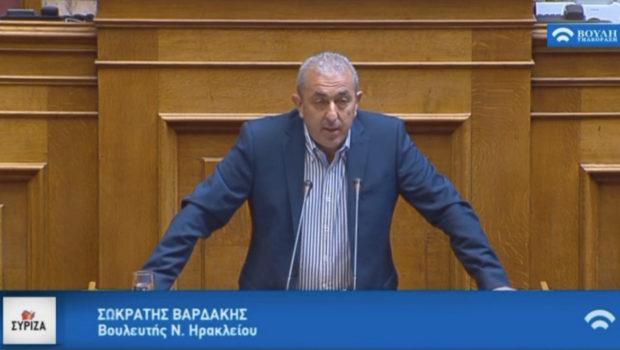 Ερώτηση Σωκράτη Βαρδάκη για αστυνόμευση του ΒΟΑΚ με μεταθέσεις αστυνομικών