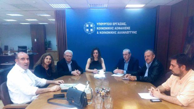 Συνάντηση στο Υπουργείο Εργασίας για θέματα εργαζομένων στον Τουρισμό – Επισιτισμό