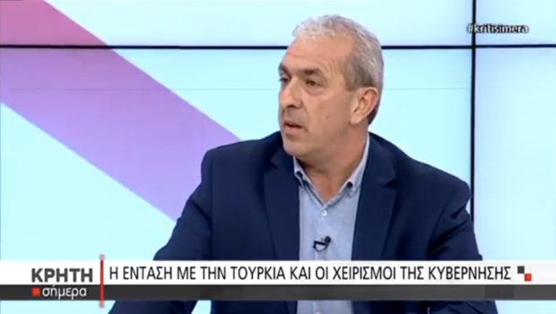 """Ο Σωκράτης Βαρδάκης στην εκπομπή """"Κρήτη Σήμερα"""" του Κρήτη TV, μιλάει για τις πολιτικές εξελίξεις"""