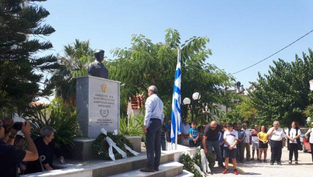 Στις εκδηλώσεις μνήμης στο Μάραθο και στη Μονή ο Σωκράτης Βαρδάκης