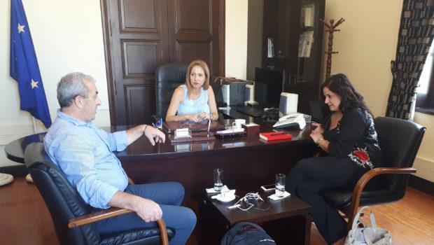 Συνάντηση Σωκράτη Βαρδάκη με Συντονίστρια Αποκεντρωμένης Διοίκησης Κρήτης