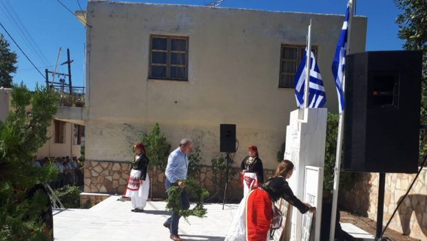Στις εκδηλώσεις για τους εκτελεσθέντες στο Σάρχο ο Σωκράτης Βαρδάκης