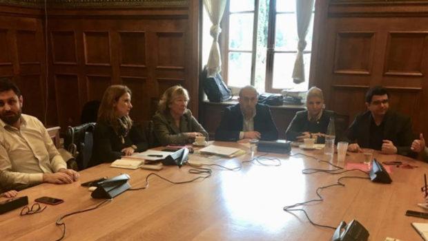 Συνάντηση Σωκράτη Βαρδάκη, με αντιπροσωπεία του Πανελλήνιου Συλλόγου Εργαζομένων Κέντρων Δημιουργικής Απασχόλησης Παιδιών
