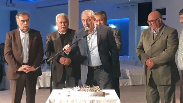 Στην κοπή της πίτας των συνταξιούχων ΕΛΤΑ παραβρέθηκε ο Σωκράτης Βαρδάκης