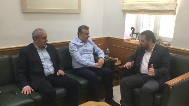 Θέματα διαχείρισης υδατικών πόρων στην συνάντηση Υπουργού Αγροτικής Ανάπτυξης, Περιφερειάρχη Κρήτης και  Σωκράτη Βαρδάκη