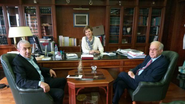 Επαφές Σωκράτη Βαρδάκη και Δημάρχου Ηρακλείου στην Αθήνα για θέματα του δήμου