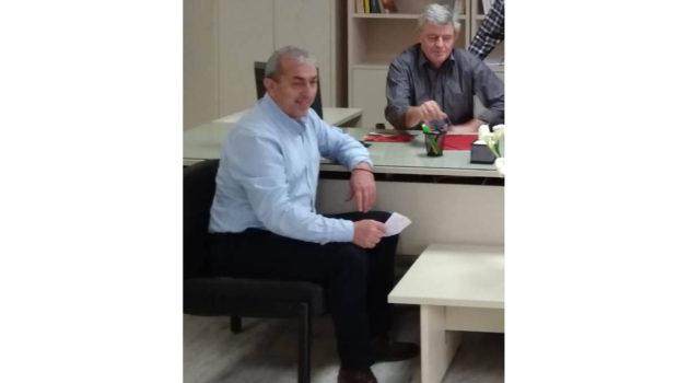 Συνάντηση του Σωκράτη Βαρδάκη με τον Διευθυντή του Περιφερειακού Ελεγκτικού Κέντρου Ασφάλισης