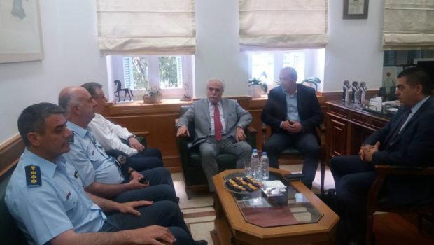 Παρουσία Σωκράτη Βαρδάκη οι συναντήσεις ηγεσίας ΕΛΑΣ με Περιφερειάρχη και Δήμαρχο Ηρακλείου