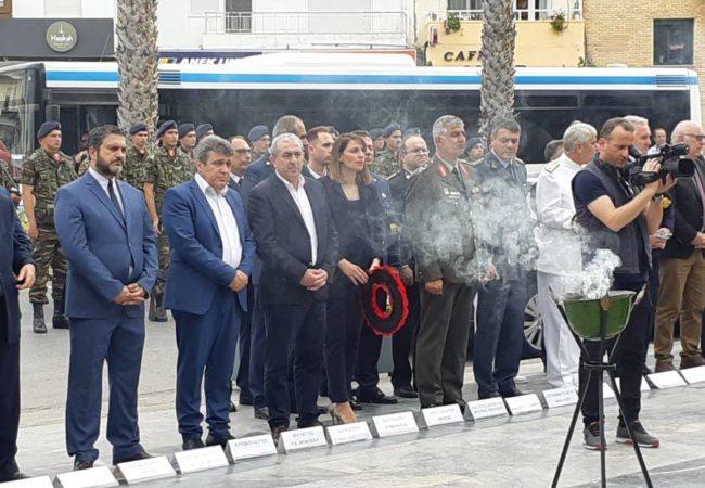 Ο Σωκράτης Βαρδάκης παρέστη στην τελετή στο Μνημείο της Μάχης της Κρήτης, καταθέτοντας στεφάνι