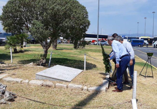 Με αφορμή τα 78 χρόνια από την ιστορική μέρα, σύμβολο Εθνικής Αντίστασης, κατά την οποία ανατινάχθηκε το αεροδρόμιο Ηρακλείου, ο Σωκράτης Βαρδάκης παρευρέθηκε στην εκδήλωση που πραγματοποιήθηκε στο αεροδρόμιο Ηρακλείου