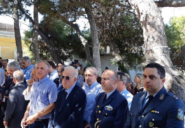 Στο ετήσιο μνημόσυνο για την ανάπαυση των ψυχών των 62 συνανθρώπων μας που εκτελέστηκαν την περίοδο της Γερμανικής Κατοχής, στην εκκλησία των Αγίων Πάντων στο Γάζι