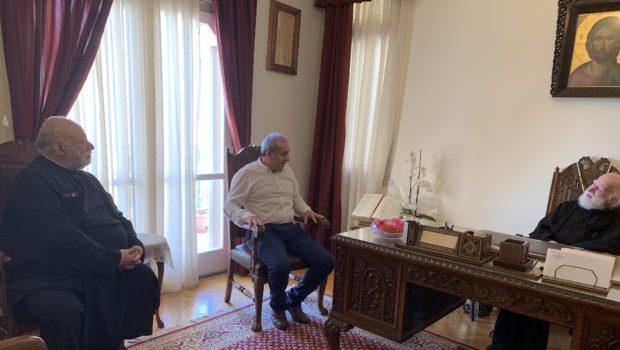 Στον Αρχιεπίσκοπο Κρήτης κ.κ. Ειρηναίο ο Σωκράτης Βαρδάκης