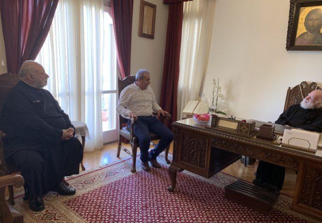 Με επίσκεψη στον Σεβασμιότατο Αρχιεπίσκοπο Κρήτης κκ Ειρηναίο ξεκίνησε την προεκλογική εκστρατεία του ο βουλευτής Ηρακλείου ΣΥΡΙΖΑ Σωκράτης Βαρδάκης