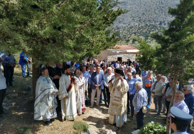 Στον Ομαλό Βιάννου, στην Θεία Λειτουργία στο Άγιο Πνεύμα, παρευρέθηκε ο Σωκράτης Βαρδάκης