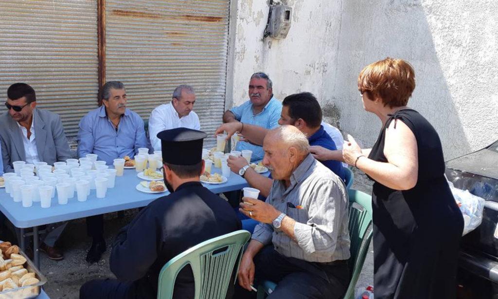Συνάντηση με κατοίκους στο χωριό Βαλής, στα πλαίσια της προεκλογικής εκστρατείας