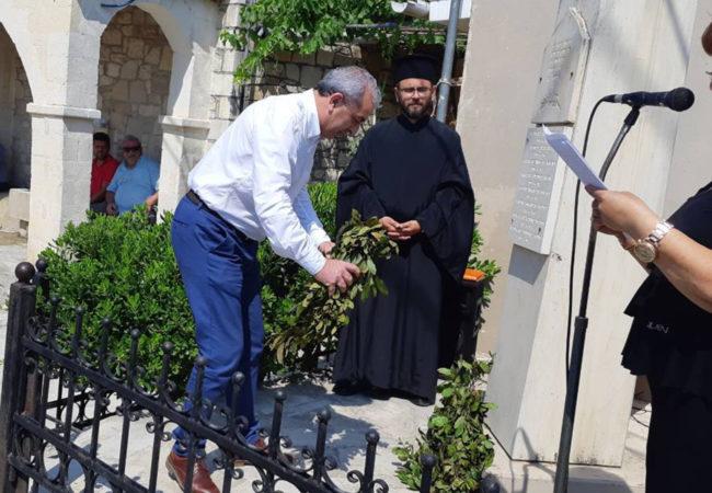 Στην εκδήλωση τιμής και μνήμης για τους πεσόντες της Μάχης της Κρήτης που πραγματοποιήθηκε στο χωριό Βαλή του Δήμου Γόρτυνας