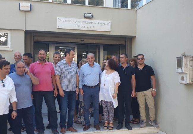 Με επίσκεψη στο Εργατικό Κέντρο Ηρακλείου ολοκλήρωσε τον προεκλογικό κύκλο περιοδειών και επαφών με φορείς και πολίτες για της εκλογές της 7ης Ιουλίου