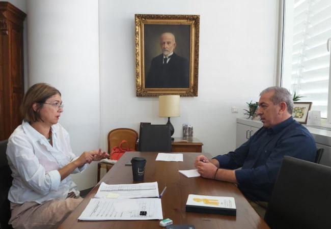 Συνάντηση Σωκράτη Βαρδάκη με την προϊσταμένη της ΕΦΑΗ κα Βάσω Συθιακάκη για την εξέλιξη των έργων στην Αγία Πελαγία