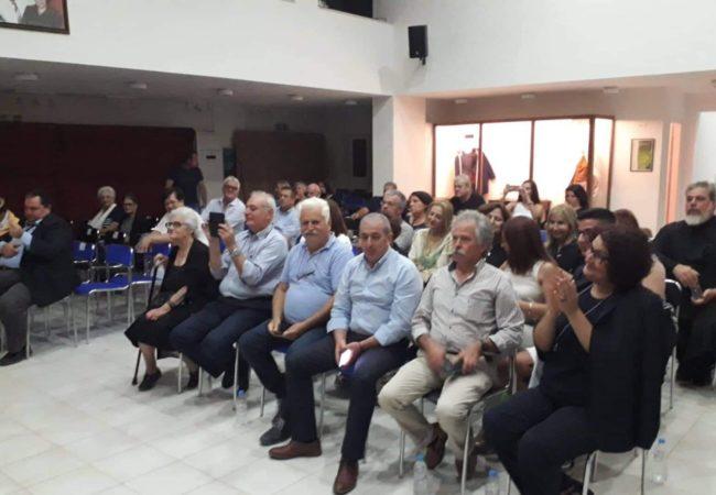 """Στην εκδήλωση που πραγματοποιήθηκε στο Πνευματικό Κέντρο της Βιάννου """"Περικλής Βλαχάκης"""", ο Σωκράτης Βαρδάκης, είχε την χαρά να παρευρεθεί στην παρουσίαση του βιβλίου της Άννας Μανουκάκη – Μεταξάκη"""
