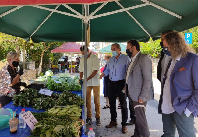 Επίσκεψη στη Λαϊκή αγορά του Μασταμπά με τον Τομεάρχη ΣΥΡΙΖΑ Σταύρου Αραχωβίτη