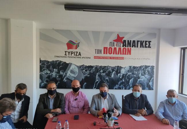 Συνέντευξη τύπου του Τομεάρχη ΣΥΡΙΖΑ Σταύρου Αραχωβίτη
